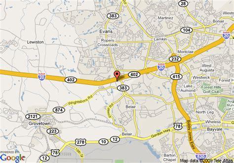 map of americas best inns augusta grovetown grovetown