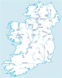 map of rivers river map ireland