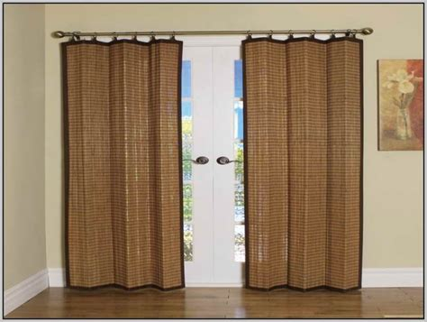 sliding door curtain rod drapery rods for sliding glass doors curtains home