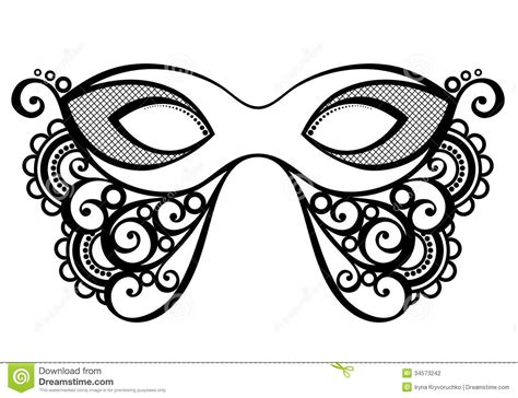 masquerade mask stock vector image of curve beauty
