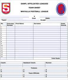 football team template football team sheet template 4 free pdf documents