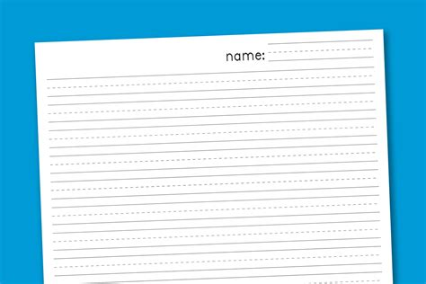 printable numbered writing paper primary handwriting paper paging supermom
