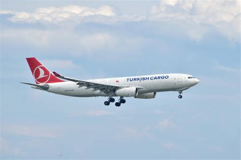 turkish airlines cargo airbus a330 landing at istanbul ataturk a editorial stock image image