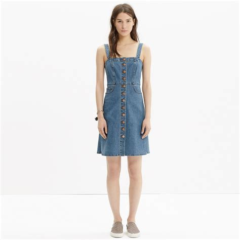 Dress Overall Overall lyst madewell denim overall dress in blue