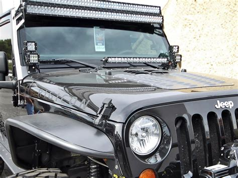 Jeep Jk Light Bar Rigid Industries Jeep Jk 20 Quot Light Bar Mount Kit