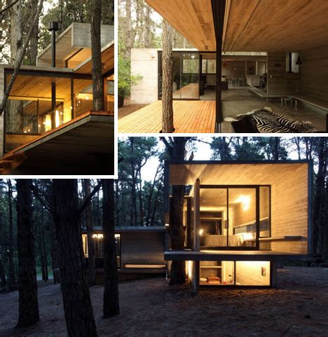 warm modern home full of concrete and wood details modern masonry cool concrete cabin warm wood patio