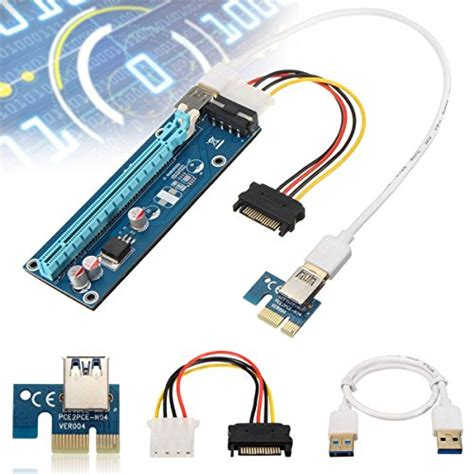Pci Express Pcie 1x To 16x Extension Versi 006 1 elegiant pci e usb 3 0 cable express 1x to 16x extension cable import it all
