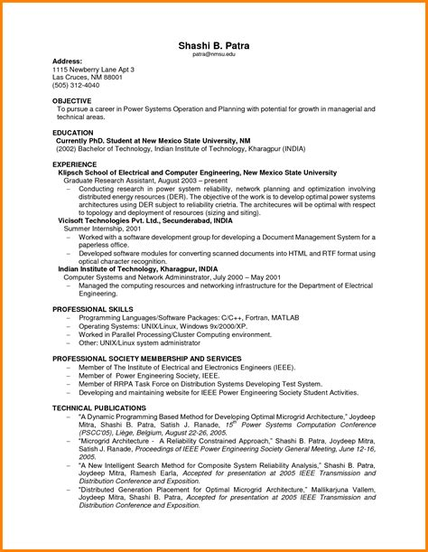 Resume Sles No Experience College 6 Resumes With No Experience Ledger Paper