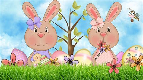 Cute Spring Walldevil Free Easter Motion Backgrounds