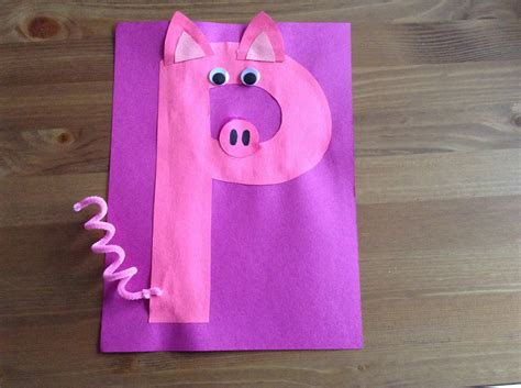 craft activity for letter p crafts ideas for preschool preschool and