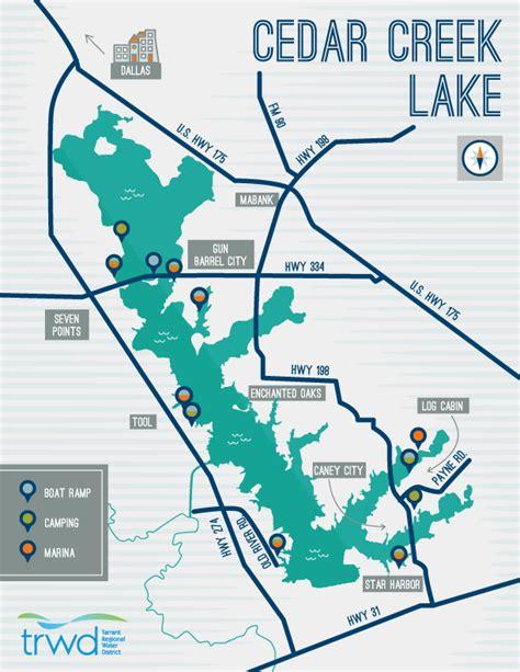 cedar creek texas map cedar creek tarrant regional water district