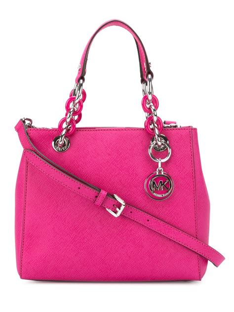 Tote Pink lyst michael michael kors small cynthia tote in pink
