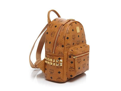 mcm stark mini backpack in pink lyst