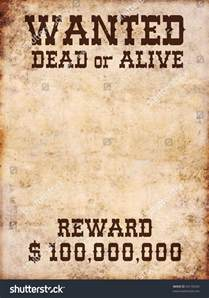 wanted poster dead or alive stock photo 94176334