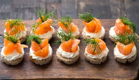 salmon canapes salmon canapes