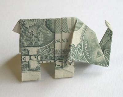 Elephant Money Origami - diy tutorial diy origami diy make an origami elephant