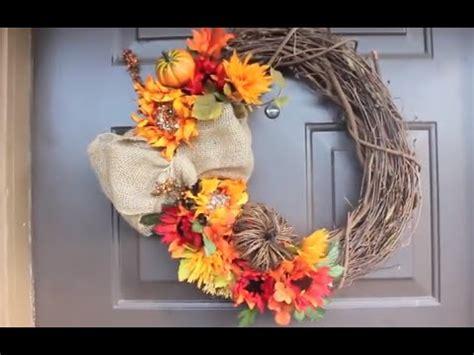 diy fall wreath youtube