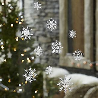 sparkly snowflake window christmas decorations x51 lakeland