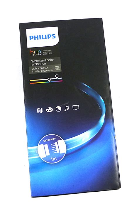 Philips Hue Lightstrip Plus 1m Ext Philips Hue Murah philips hue 71902 55 ph white and colour ambience lightstrip plus 1m extension ebay