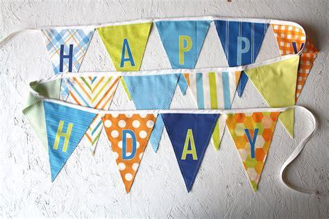 Banner Flag Happy Anniversary Putih Berkualitas boy happy birthday fabric flag banner garland blue green orange
