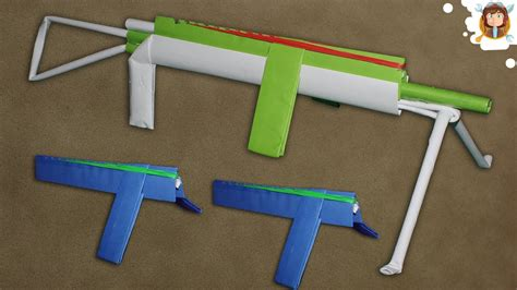How To Make A Paper Rubber Band Gun - how to make a paper machine gun that shoots rubber bands