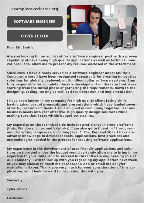 Cover Letter Software Engineering by Exle Cover Letter For Electrical Engineer Exle
