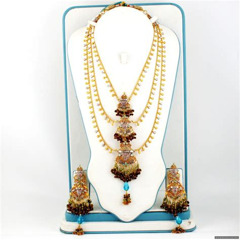 Set Gold Silver 1 gold plated silver rani haar 163 816 00 necklace sets indian gold plated silver jewellery