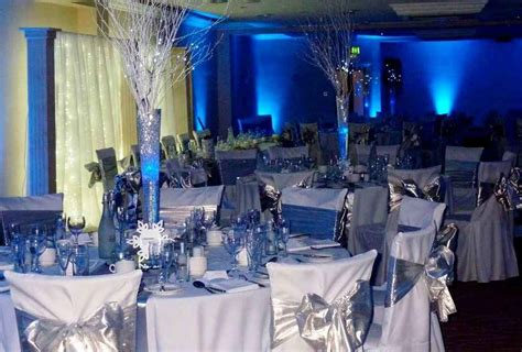 Blue And Silver Decorations by Royal Blue Gold And White Wedding Decor Royal Blue