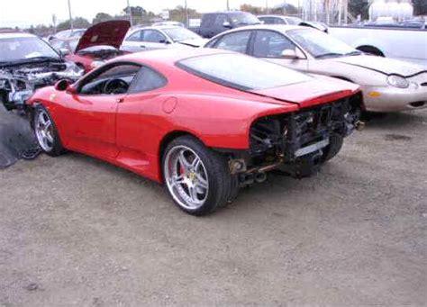 Ferrari F1 360 Modena Spider For Sale   Wrecked