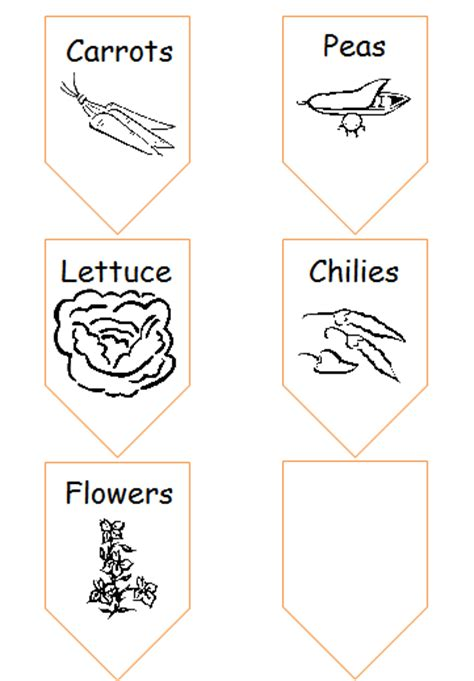 Window Box Gardening Play And Learn Every Day Plant Label Template