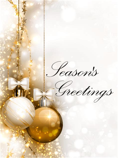 seasons greetings and new year 2018 e cards golden ornaments season s greetings card birthday greeting cards by davia
