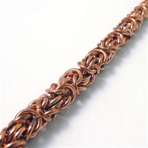 Copper Byzantine Chainmaille Bracelet   Felt