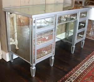 Vanity Table Montreal 7 Drawer Mirrored Vanity Desk At 1stdibs
