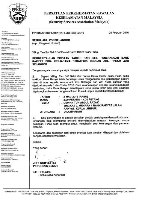 makluman pindaan tarikh penerangan bank rakyat bagi zon