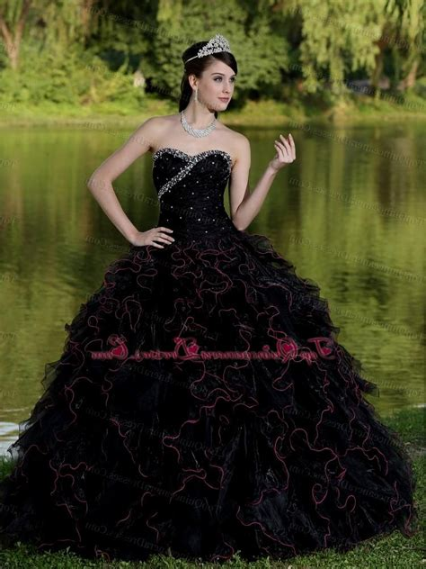 Black Sweet Style Dress N0264 sweet 15 dresses black naf dresses