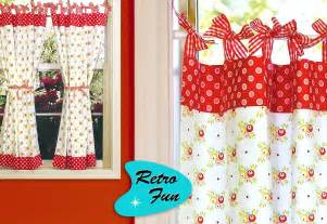 retro kitchen curtains with gingham bows sew4home