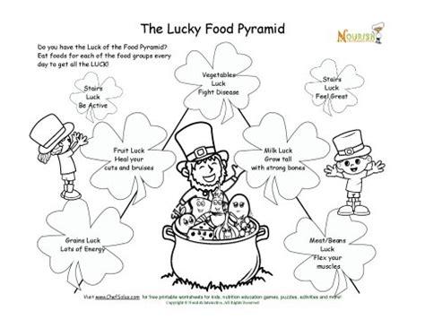 cadenas vélo test lucky food pyramid coloring page st patricks day theme