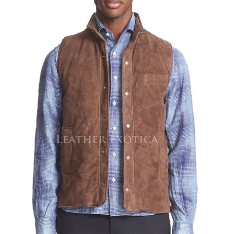 leather vest suede leather vest