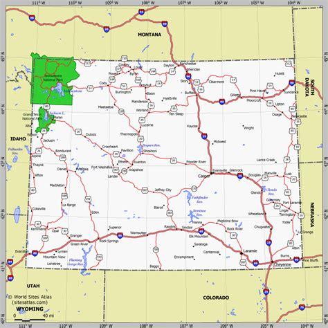 wyoming and colorado map wyoming