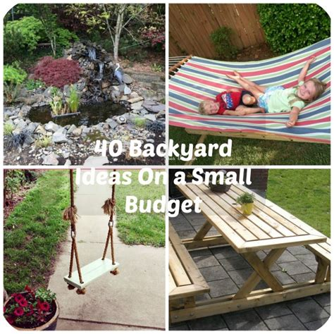 Creative Backyard Ideas On A Budget by 40 Diy Backyard Ideas On A Small Budget