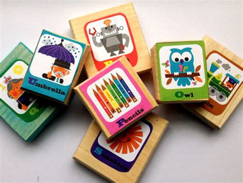 Handmade Alphabet Blocks - alphabet blocks handmade pine phonics educational