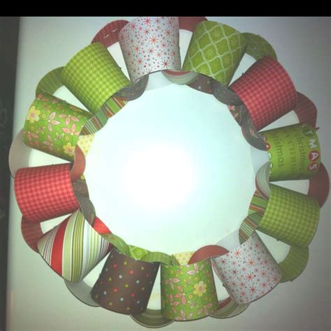 Paper Chain Craft - paper chain wreath craft ideas