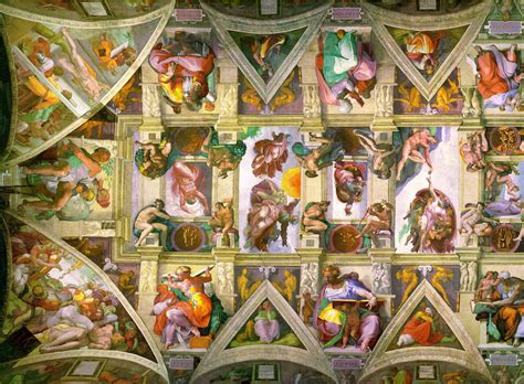 Sistine Chapel Ceiling Layout by File Sistine Chapel Ceiling Left Png