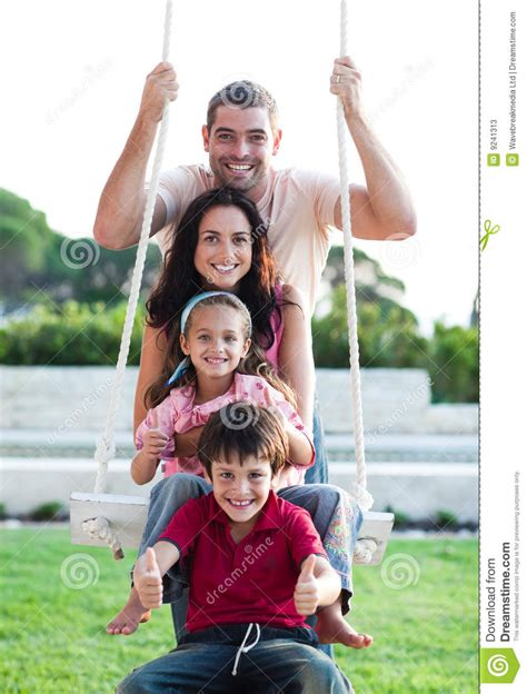 family swing family on a swing stock photos image 9241313