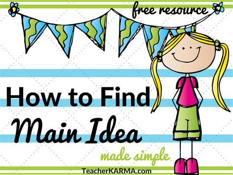 main idea and themes reading plus free resources for main idea and topic teacher karma