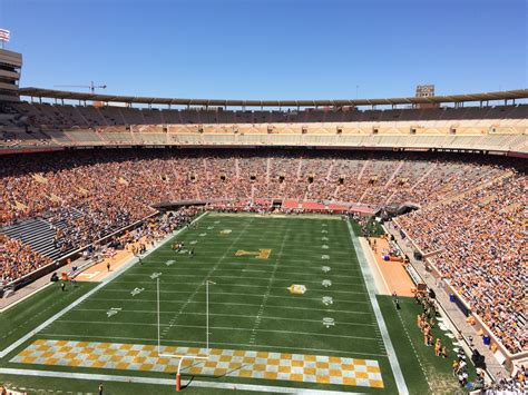 neyland stadium visitors section neyland stadium section kk rateyourseats com