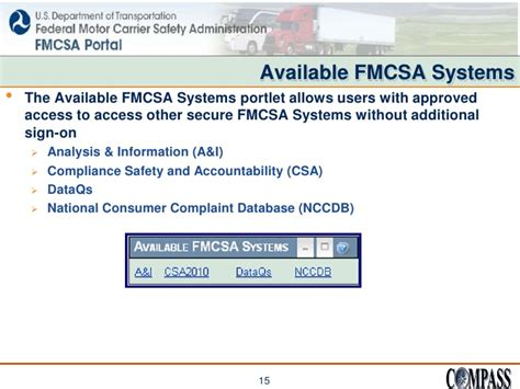 dataqs home fmcsa portal and the inspection selection system