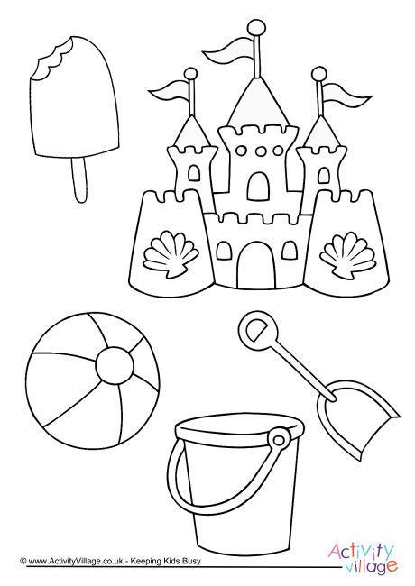 printable beach activity sheets beach fun colouring page