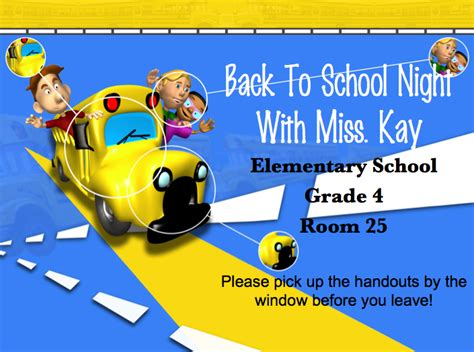 back to school night powerpoint template casseh info