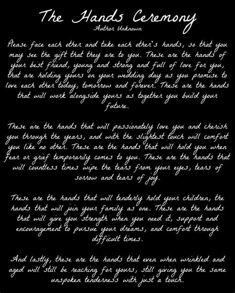 This would be so beautiful to be read after our vows. I'm
